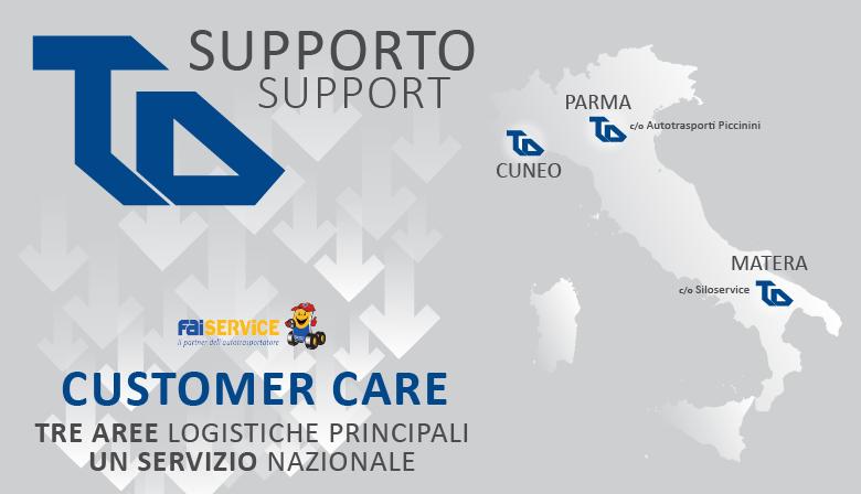 Costumer Care - Tre aree logistiche principali per un servizio nazionale